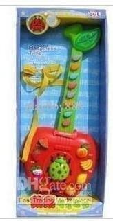 music 5005 Apple Cartoon toys.Bor electronic guitar