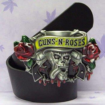 NEW GUNS N ROSES Rock Band Metal Buckle Belt100pcs