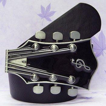 Music Guitar Punk Rock Metal Buckle Leather Belt 100pcs