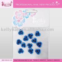 Free Shipping 100bags/lot Mixed Colors Nail Art Decoration 3D Metallic Rose