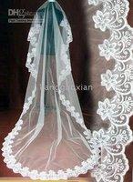 Wholesale and retail 2010 new white Free postage Sale (pieces) fashion wedding veil
