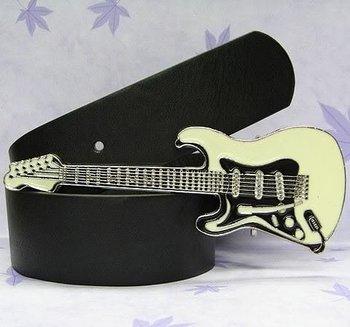 Free Shipping Electric Guitar Rock  Belt Buckle +free belt 100pcs