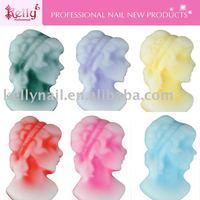 Free Shipping 192pcs/lot MIxed Colors Cameo Lady Nail Art Decoration
