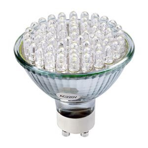 GU10 socket bulb L 230V 2.5Wamp wire Base 60 LED Light(China (Mainland))