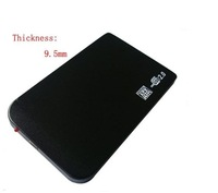 "2.5""USB aluminium HDD External Enclosure case box without screws + case pouch without colour package"
