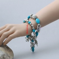 NEW ARRIVAL Wholesale low price VERY STUNNING BRAND NEW TIBETAN SILVER TURQUOISE bracelet.TB-007