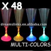 2013 new Wholesale 96 LIGHT UP LED FLASHING MARGARITA,WINE, MARTINI GLASS Mug Flash Glasses. hot sale+Freeshipping