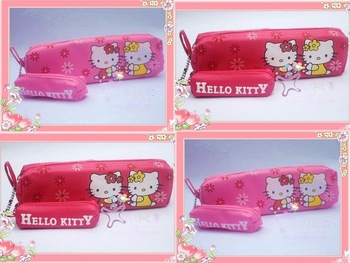 FREESHIPPING Wholesale LOT 20PCS HELLO KITTY  hellokitty sanrio makeup pouch Cosmetic Box bag pencil case pencil bag