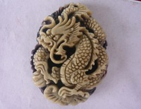 Free shipping, hot, Wholesale andmade Carved Zipao Jade Dragon Pendant, Gem