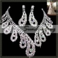 Fast Free Shipping! Gorgeous Alloy with Rhinestones and Crystal Wedding Bridal Jewelry Set Including Necklace and Earrings -JV39