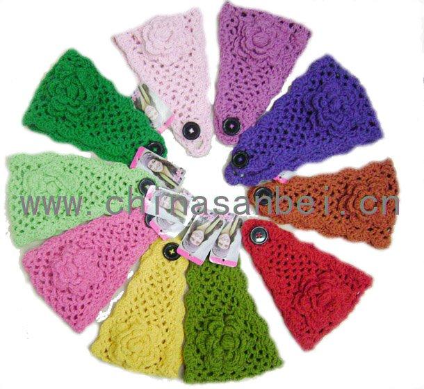 2011 spring new fashion Handmade Headband Knit Headwrap crochet flower best cotton(China (Mainland))