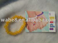 uv bead bracelet colour change bracelet yellow colour