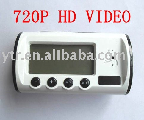 Free shipping 720P CCTV hidden camera clock with remote controller and motion detector(China (Mainland))
