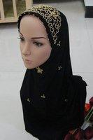 black hand-made scarves hats shawls islamic clothing hijabs hats beautiful muslim hijabs designer shawls 0226tt382
