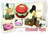 Wholesale 10pcs/lot New Lovely Cartoon Shape Inflatable Chair Pump Comfortable Washable Detachable
