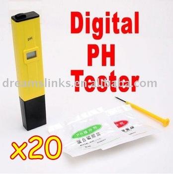 Lot of 20 Brand New Digital pH Meter Tester Pocket Pen For Aquarium Pool Water,school laboratory EMS Free Shipping