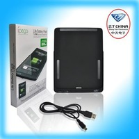 Free shipping of popular item for iPad Battery Pack can charge large volum in black color PG-IP075