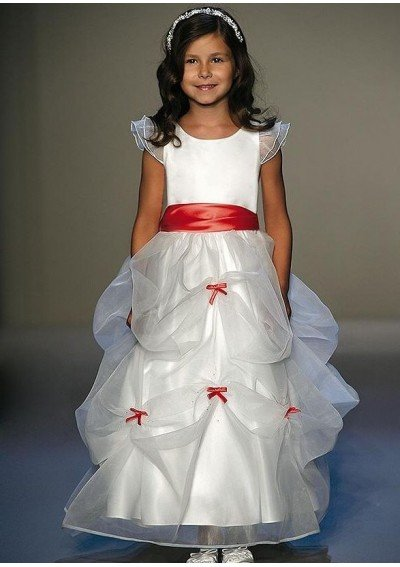CC1014 elegant flower girl dress by designer free shipping(China (Mainland))