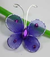 Free shipping Wedding Decoration 2.5cm 200pc Purple Stocking Butterfly new wholesale /retail