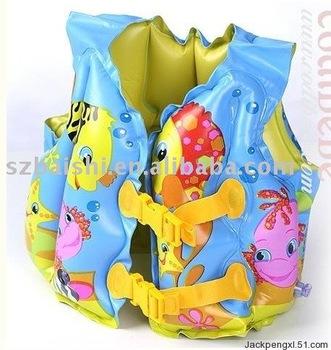Wholesale freeshipping 30pcs Fish Swim Inflatable Aid Life Jacket Vest For Baby Kid 3-5years