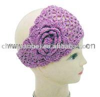 fashion Handmade Knit headband crochet flower headwrap shimmer style