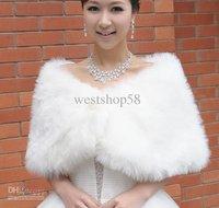 Fur Stole Wrap Shrug Bolero Coat Bride shawl Woman white Faux