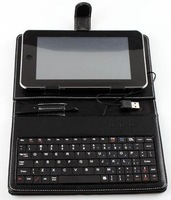 "Leather Case Keyboard for 8"" Tablet PC"