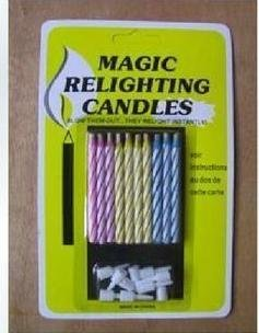 200pack/lot (10pcs/pack) Mini Magic Relighting Birthday Wedding Candles Party Gag Joke Making April Fool free shipping(China (Mainland))