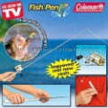 Free Shipping Coleman Fish Pen Fishing Rods Fish Tool Brass Finshed Reel Fits In Your Pocked As Seen On TV 20pack