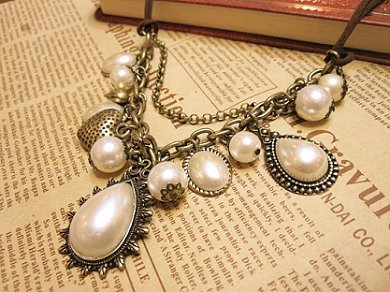 European and American vintage jewelry,Pearl Pendant,Short necklace,Unique style,free shipping(China (Mainland))