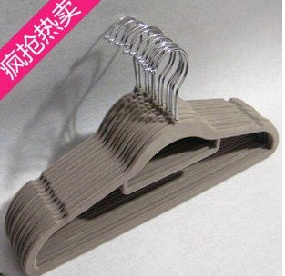 antiskid clothes Flocked/Flocking hanger coat drying rack magic Huggable Pant Shirt novelty wholesale retail(China (Mainland))