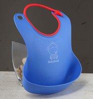 free shipping 100pcs/lot BabyHood Soft anti-debris infant baby toddler bib, children's meals pocket/water/plastic bibs