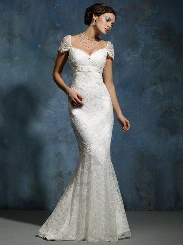 Free shipping 2011 latest custom-made short sleeve sheath wedding dress sexy evening dress bridesmaid dress(China (Mainland))