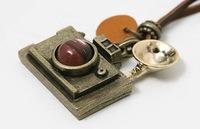 Vintage Camera Pandant Necklace Sweater Chain 10pcs/lot+(Support Drop Shipping) & Free Shipping
