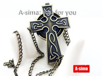 Minimum order 30$ : Retro cross pocket watch / necklace jewelry / sweater chain gift accessories : C11-12