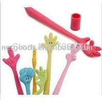 Flexible interest expression play fun pen/finger gestures pen ,flexibile Gesture pen, finger ball pen,increative ball