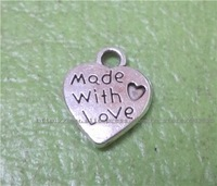 free shipping Fashion antique silver nice heart charms metal charms jewelry accessories