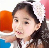 toddler girls beautiful headband cute pearl headband 30pcs/lot