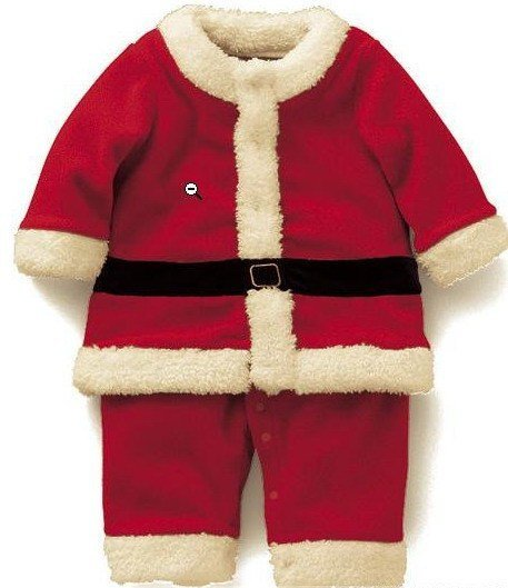 Christmas baby dress kids christmas clothes apparel red color(China (Mainland))