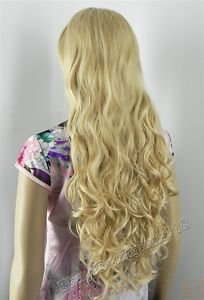 Charming yellow mixed color long curly full wig Wigs color Fashion Free shipping(China (Mainland))