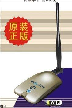 1PCS Free Shipping prevalent High Power 1000mw Wireless WIFI USB adapter,high power wifi lan card Wiflycity