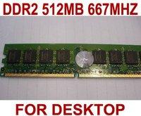 NEW DDR2 512M 667Mhz Ram Memory DDR2 512M  For Desktop+Long Warranty+Free Shipping (MOQ 30PCS)