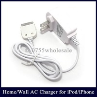 Free Shipping 50PCS Home Wall Charger for iPhone 3G 3Gs 4G