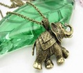 Free ship fee Copper alloy elephant Antique style Bronze 800MM (31.5 inch)Chain Necklace 10PCS/Lot necklaces X34T