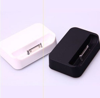 Free  Shipping Black and white Dock Cradle Charger Station for Apple IPHONE 4 4G