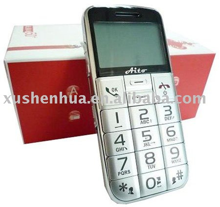 china post 50+ old man Senior cell phone with FM& SOS emergency call function & larg keyboard & loud speaker mobile phone(Hong Kong)