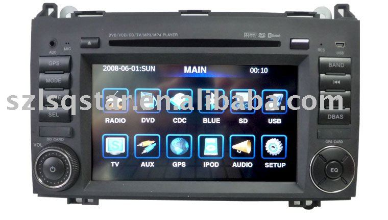 free shipping BENZ car dvd for B200 with GPS,digital screen(China (Mainland))