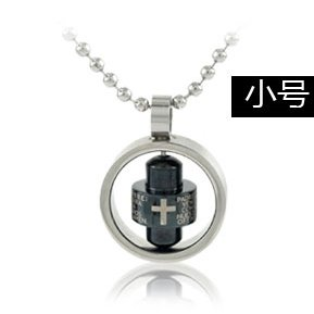 5pcs/lot free shipping lettering cross and text on black titanium pendant jewellery fashion can move unisex pendant necklaces(China (Mainland))
