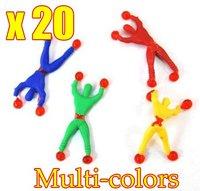 20pcs/lot Wholesale Climb walls spider men ,superman, children's toys OPP Bag Free Shipping