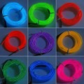 9 colors/lot,3M Flexible Neon Light Glow EL Wire Rope Strip + Driver with free shipping